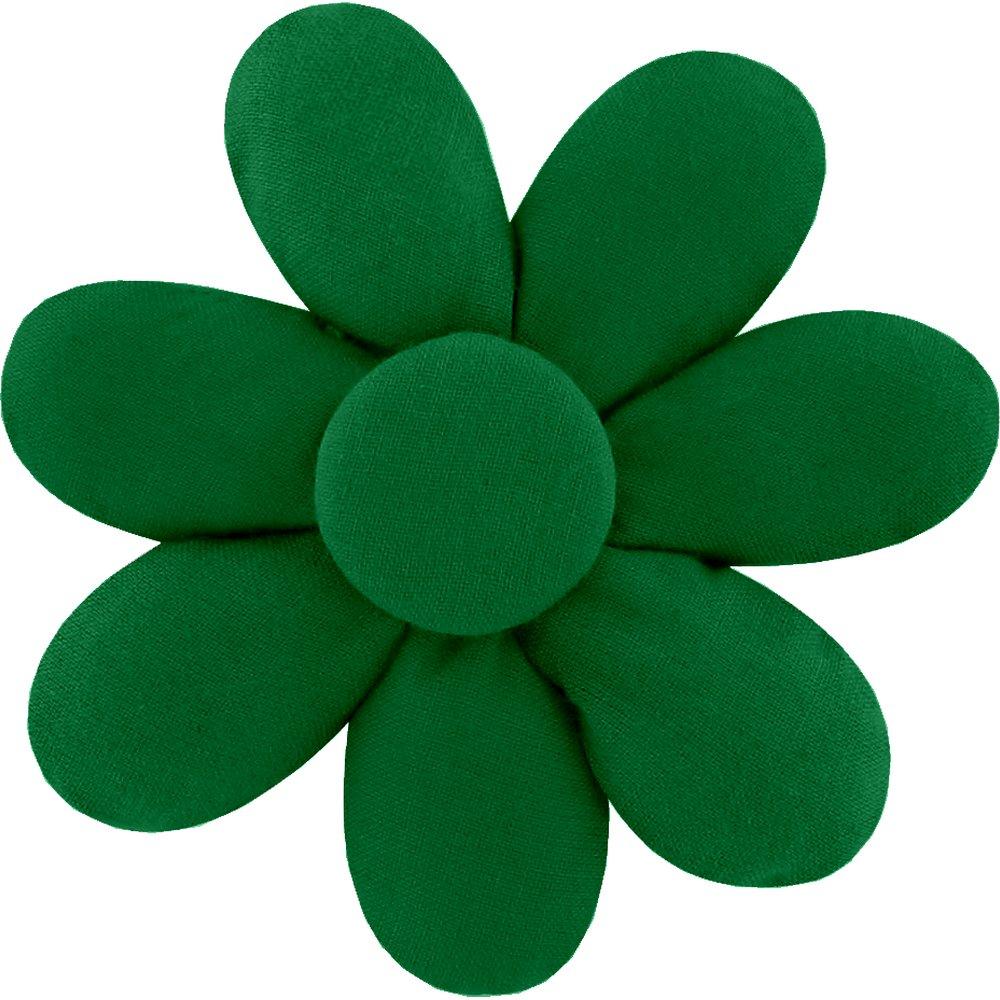 Fabrics flower hair clip bright green