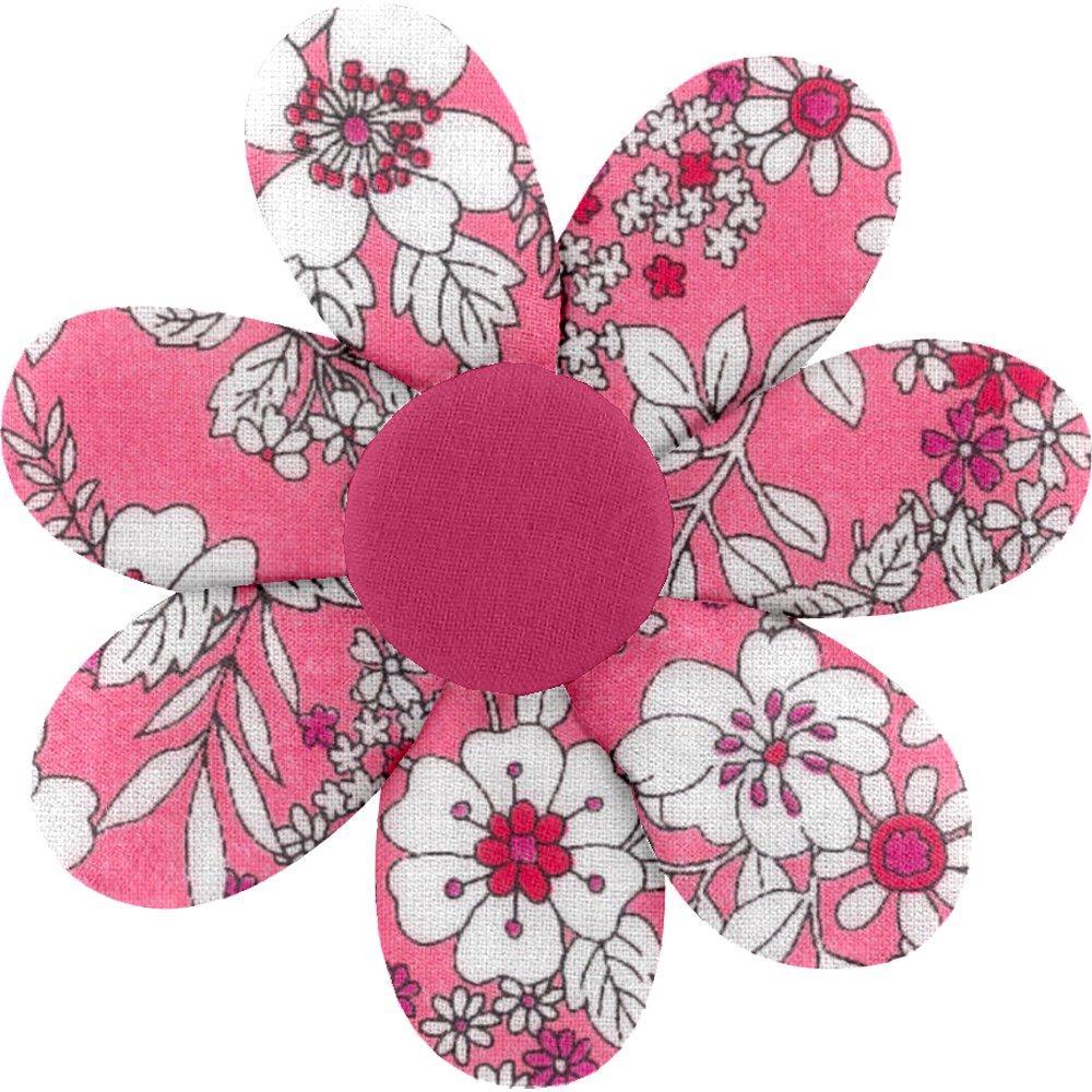 Barrette fleur marguerite violette rose