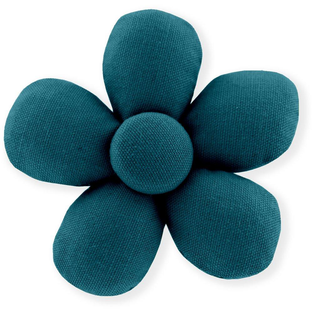 Mini flower hair slide bleu vert