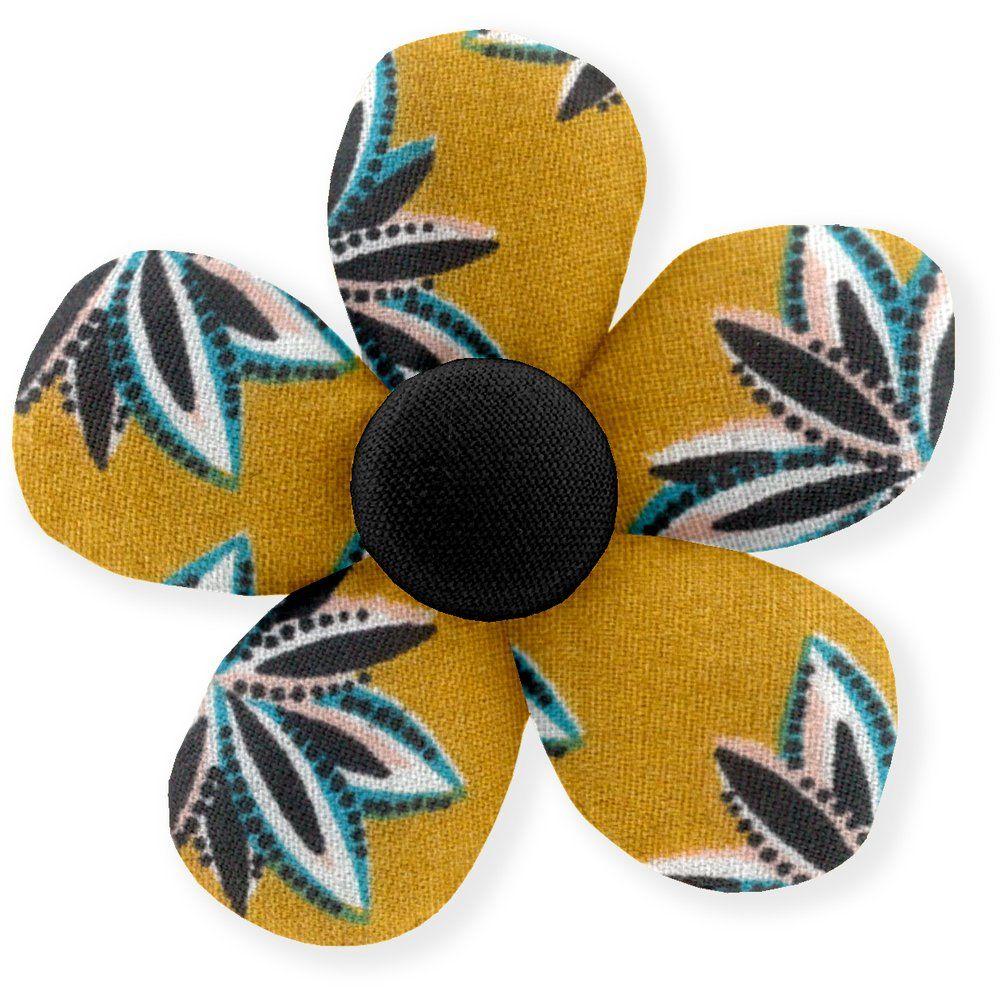Petite barrette mini-fleur etoile anisée