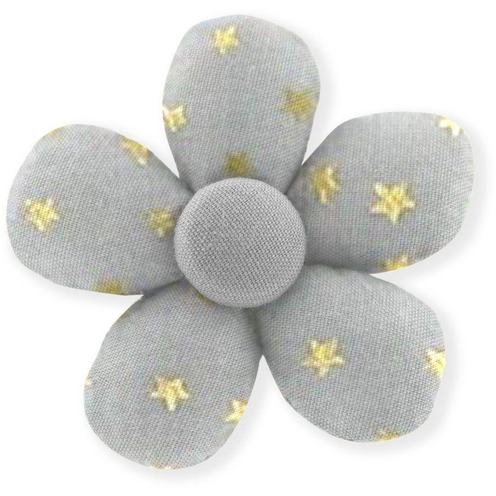Mini flower hair slide etoile or gris