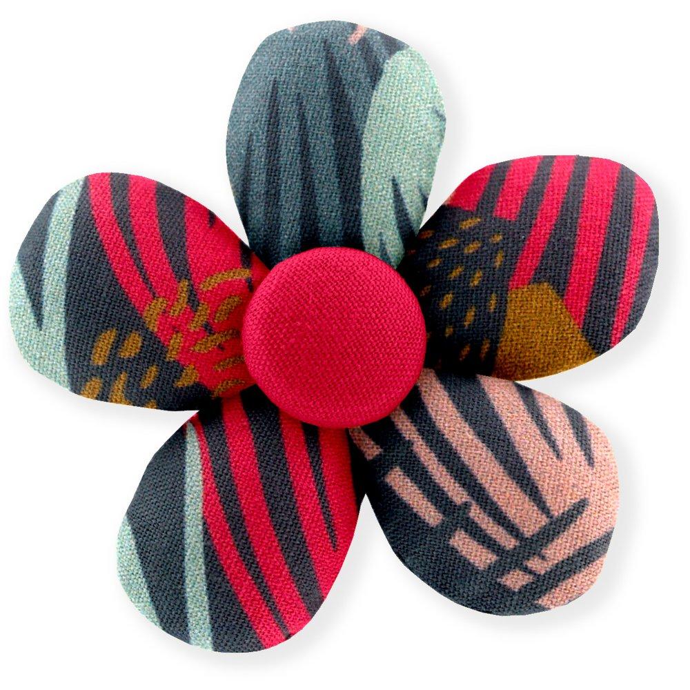 Petite barrette mini-fleur feu d'artifice