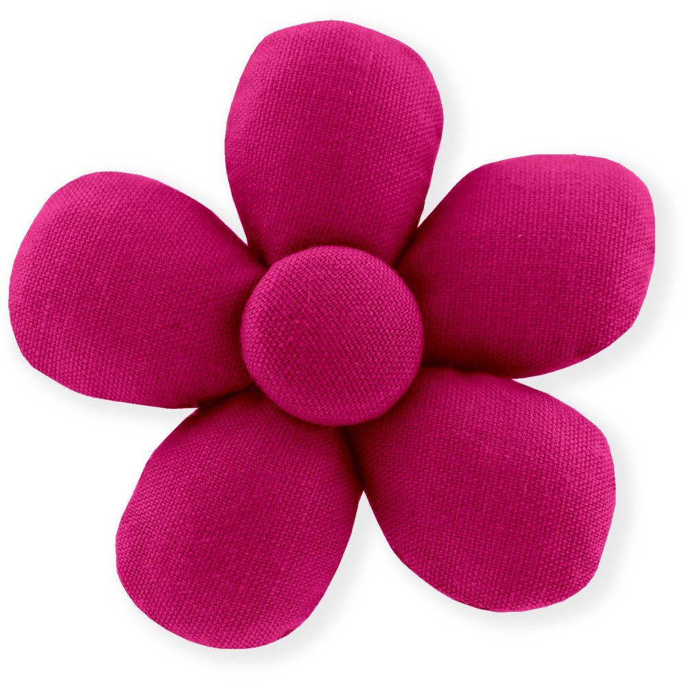 Mini flower hair slide fuschia