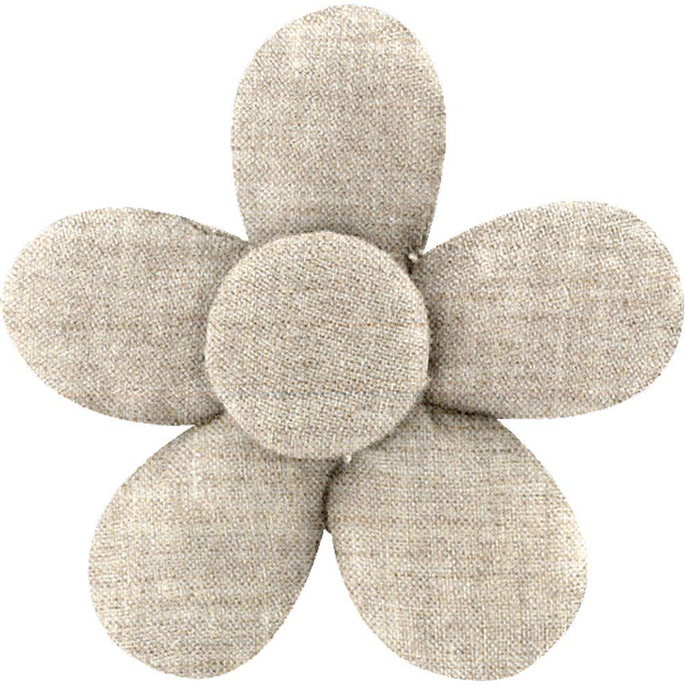 Petite barrette mini-fleur lin pailleté - PPMC 165efd473dc