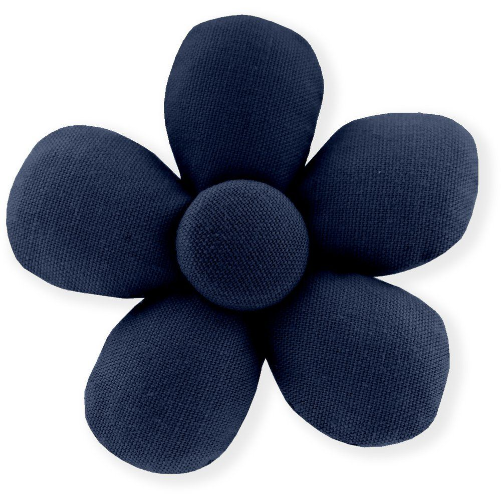 Mini flower hair slide navy blue
