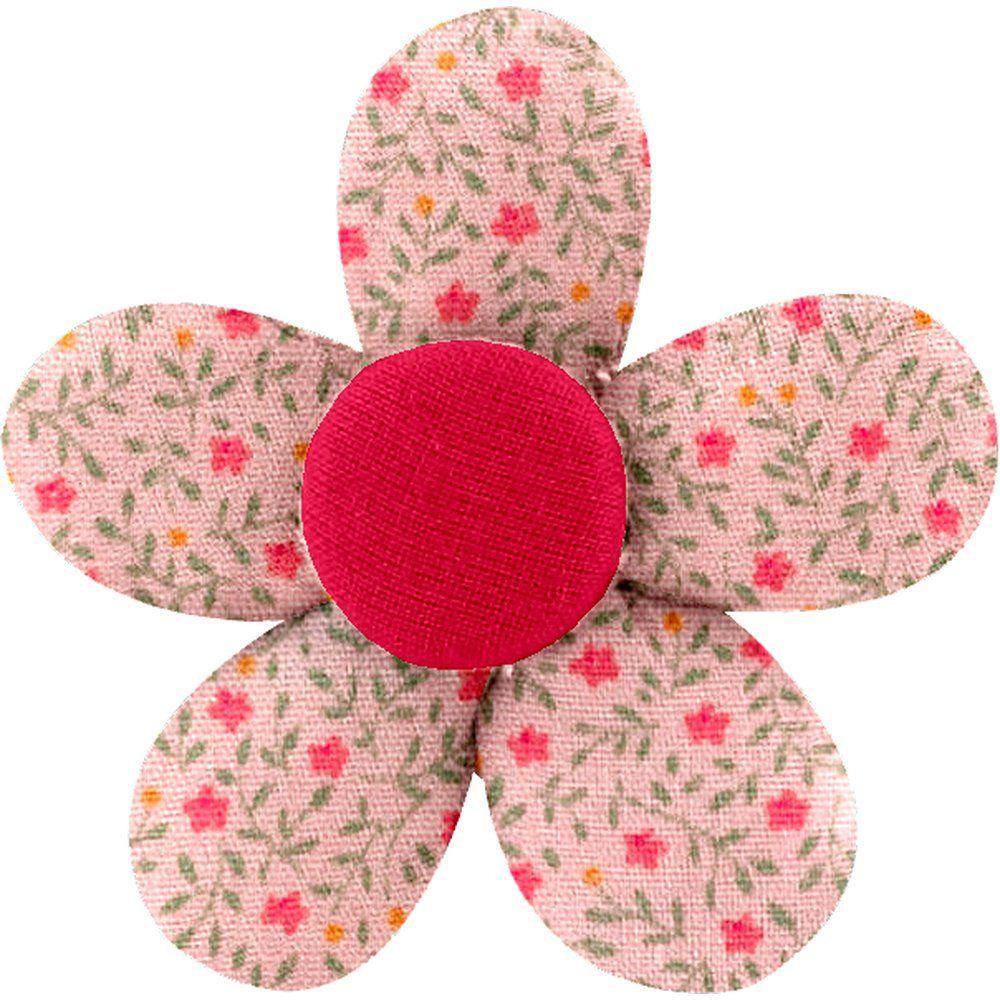 Petite barrette mini-fleur mini fleur rose - PPMC 2f2dd729054