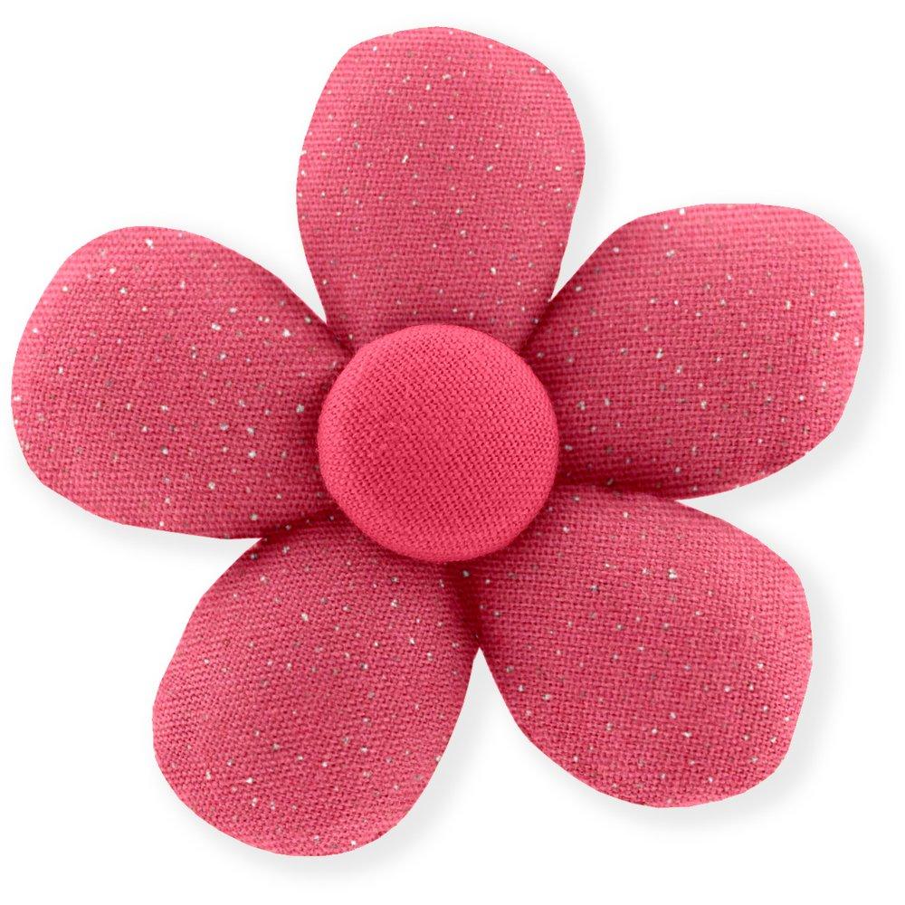 Mini flower hair slide rose pailleté