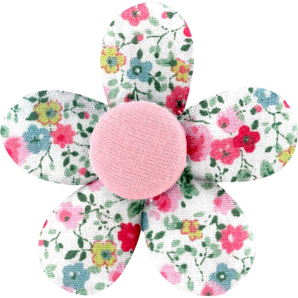 Petite barrette mini-fleur roseraie - PPMC 84d173f5a93