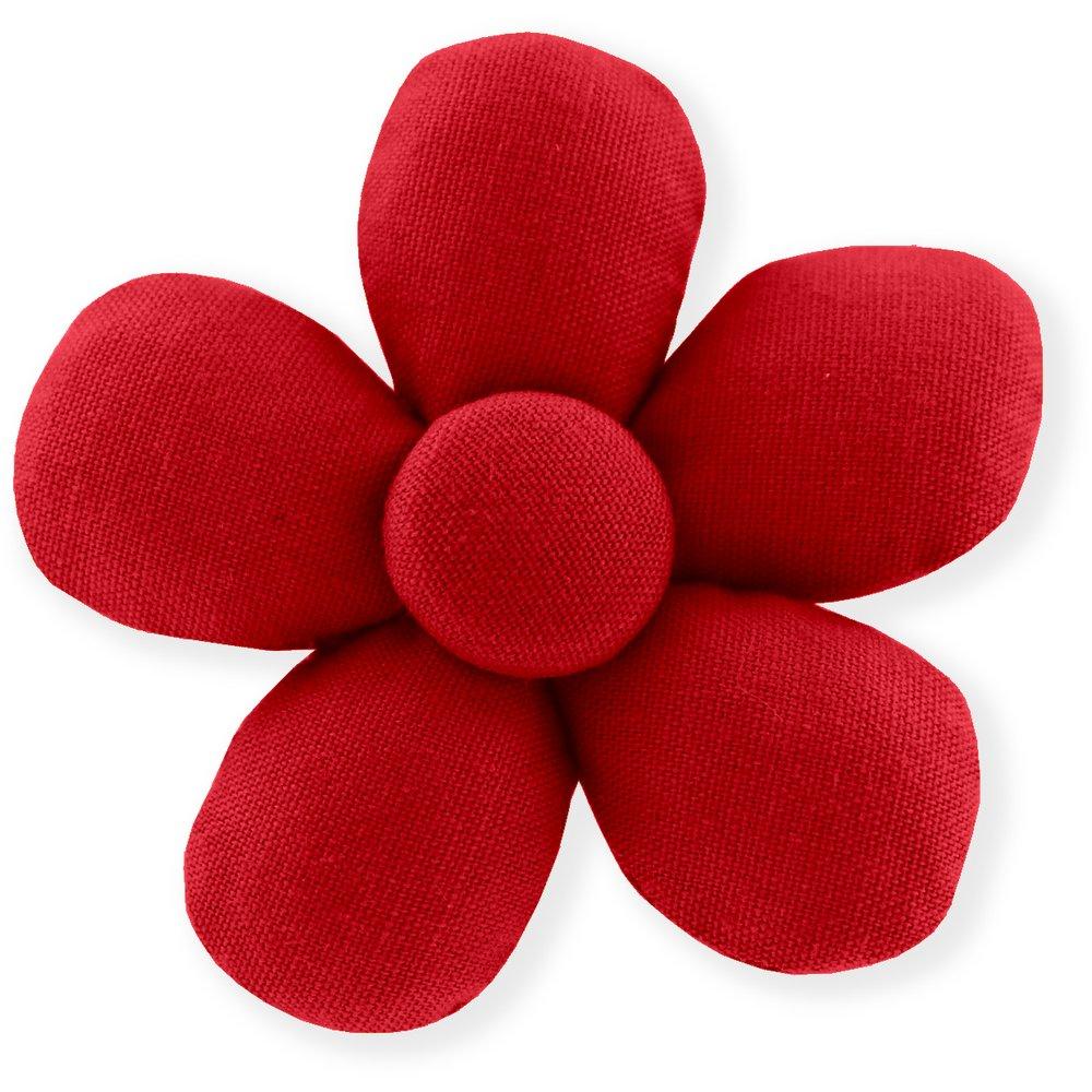 Mini flower hair slide red