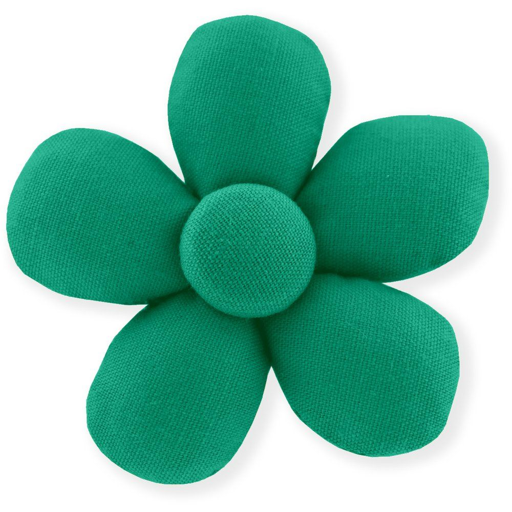 Mini flower hair slide green laurel