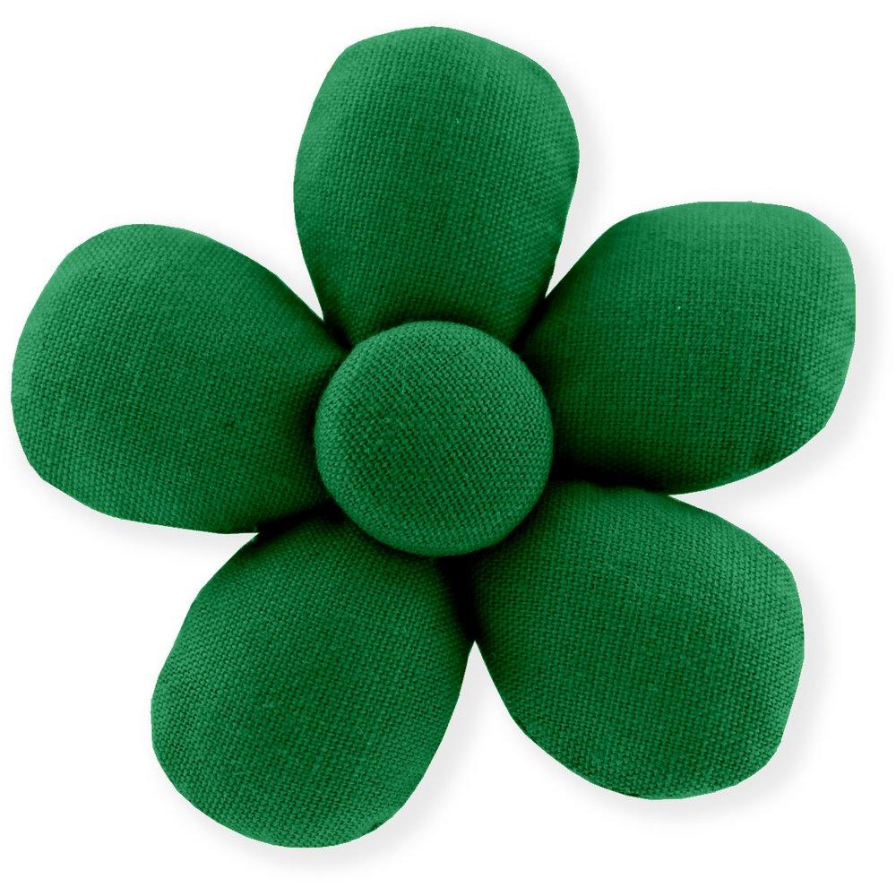 Pasador mini flor verde brillante