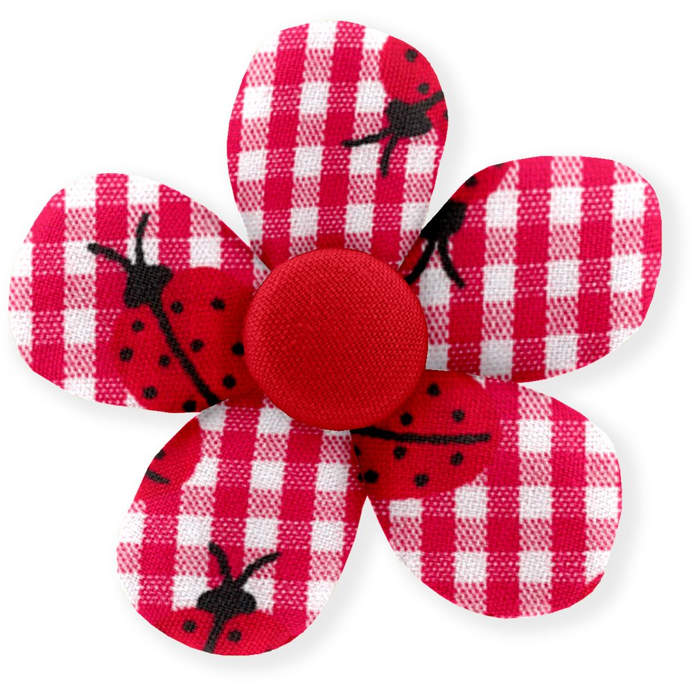 Mini flower hair slide ladybird gingham
