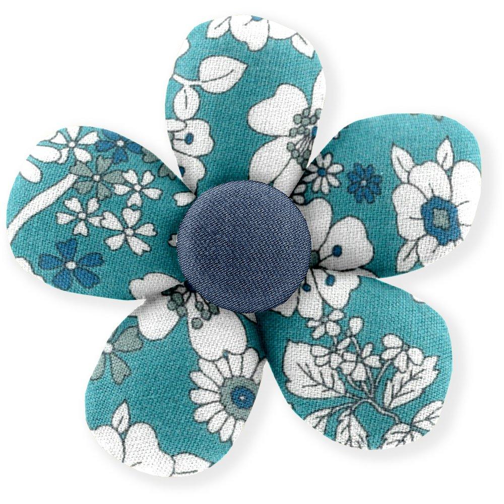 Mini flower hair slide celadon violette