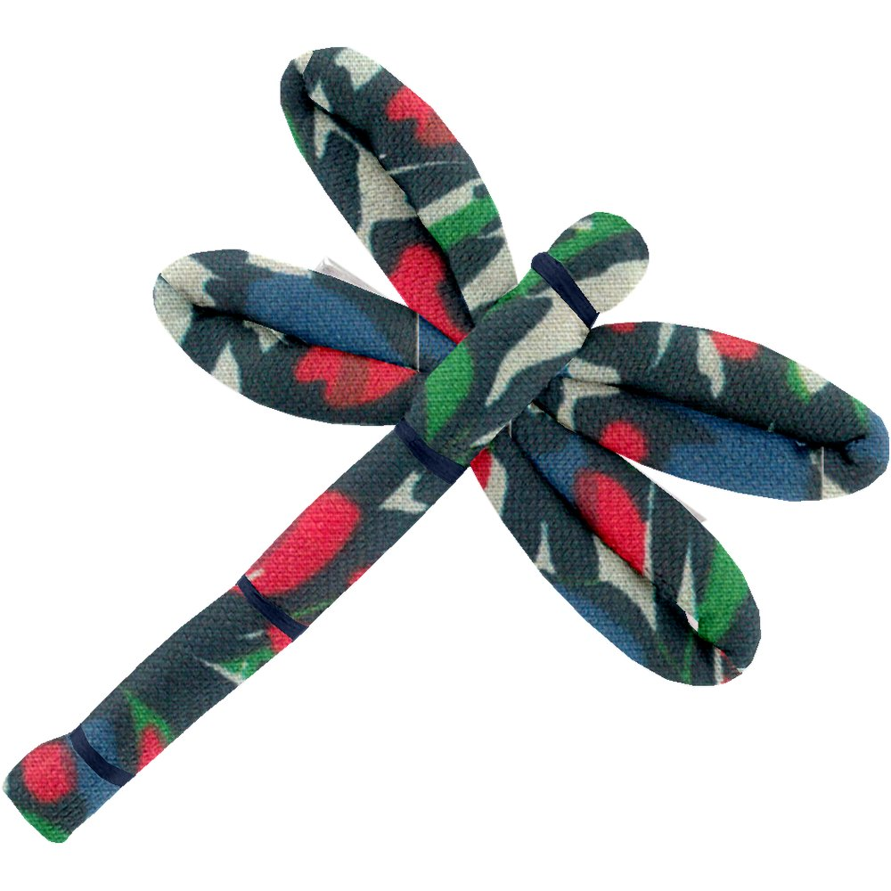 Dragonfly hair slide  tulipes