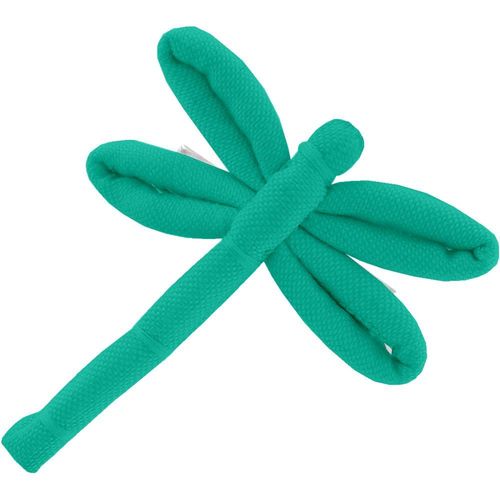 Dragonfly hair slide green laurel