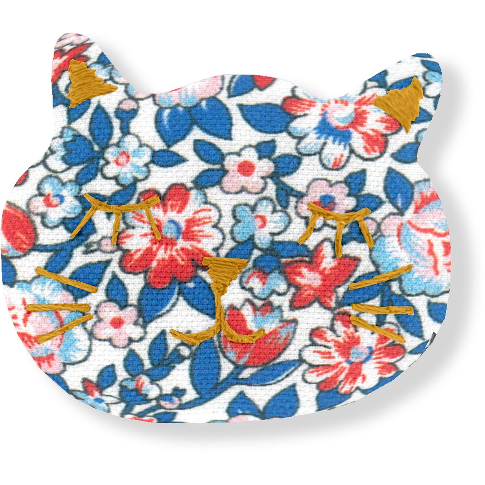 Barrette miaou london fleuri