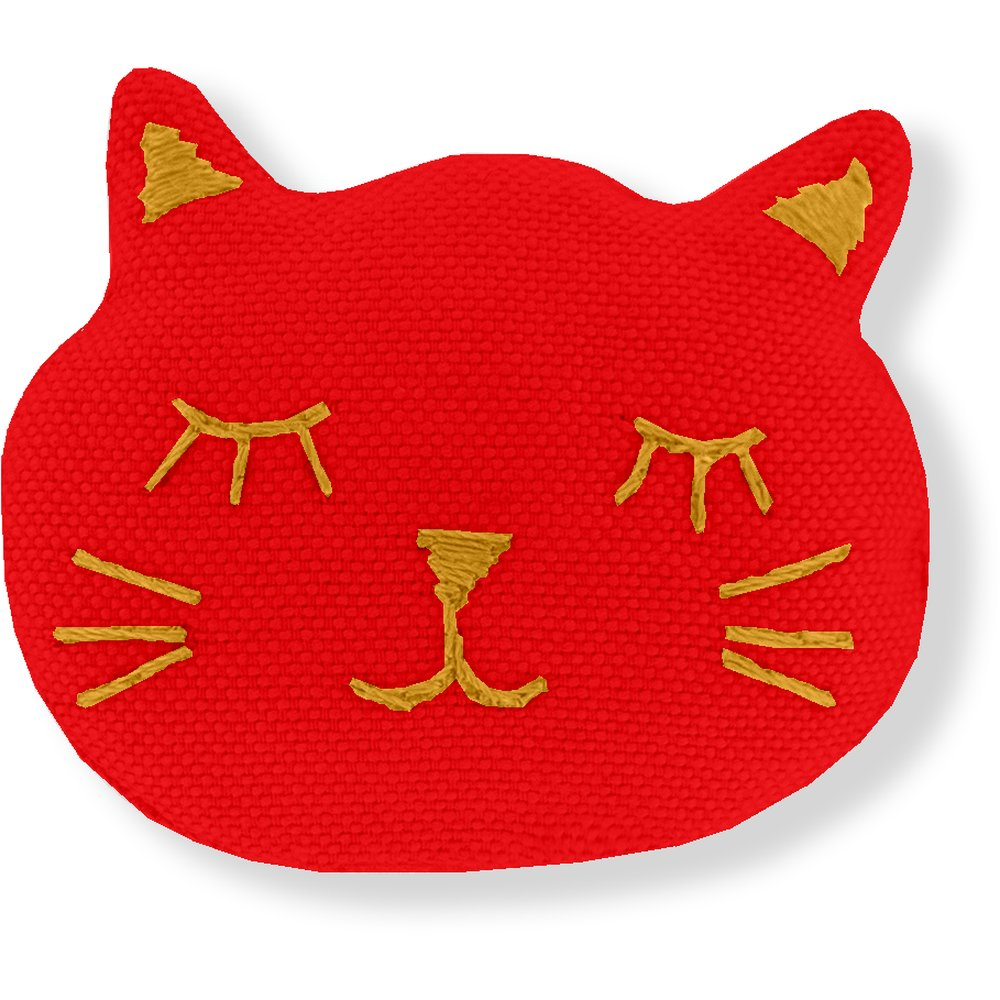 Barrette miaou rouge tangerine