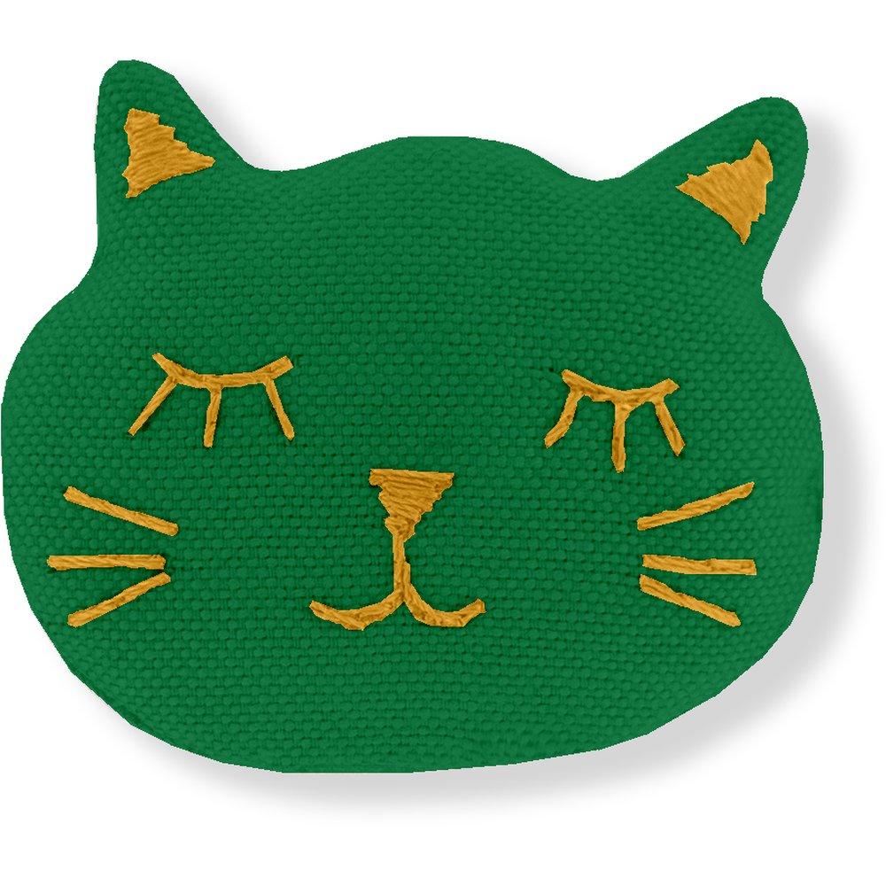 Barrette miaou vert vif