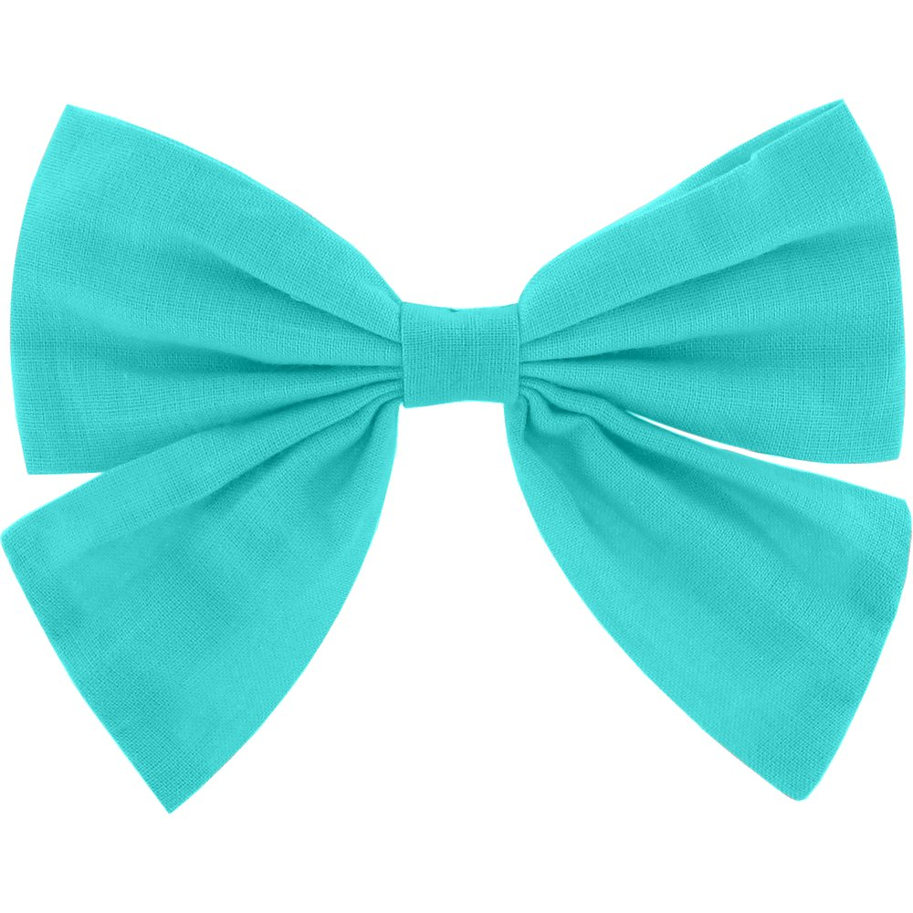 Bow tie hair slide azur