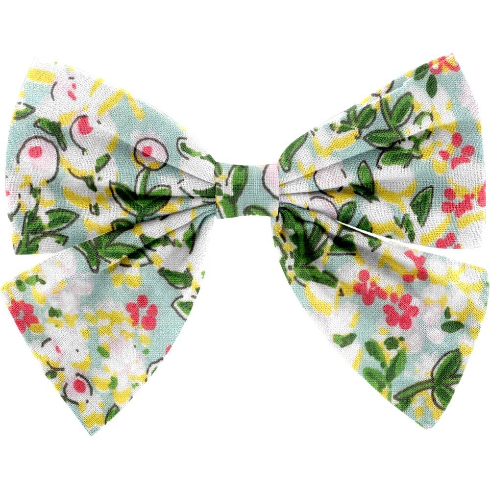 Bow tie hair slide menthol berry