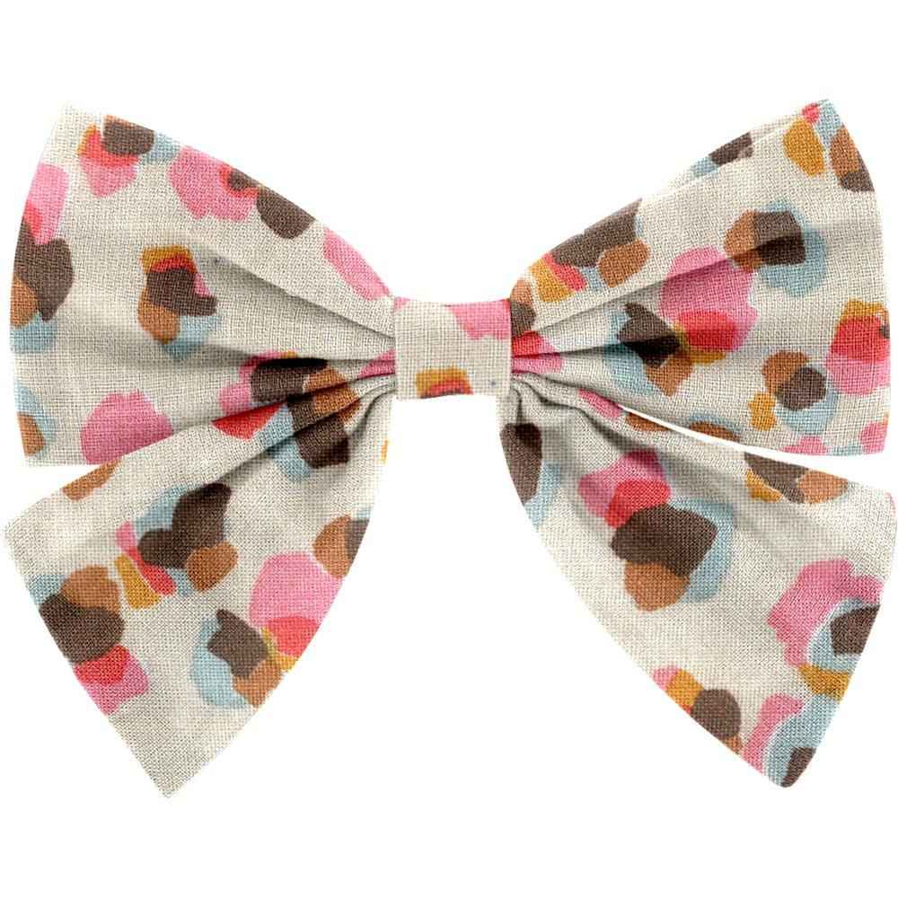 Bow tie hair slide confetti aqua