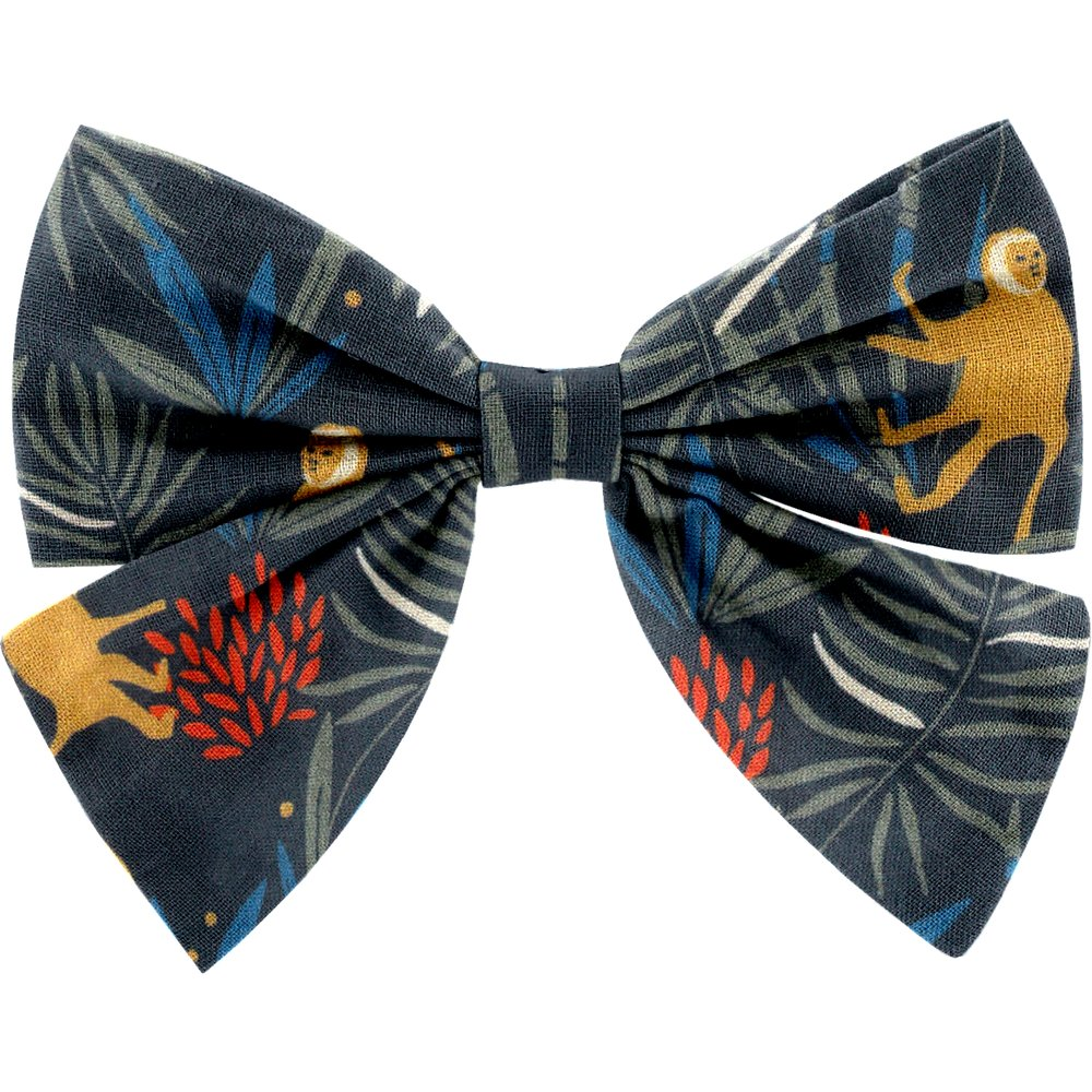 Bow tie hair slide jungle party