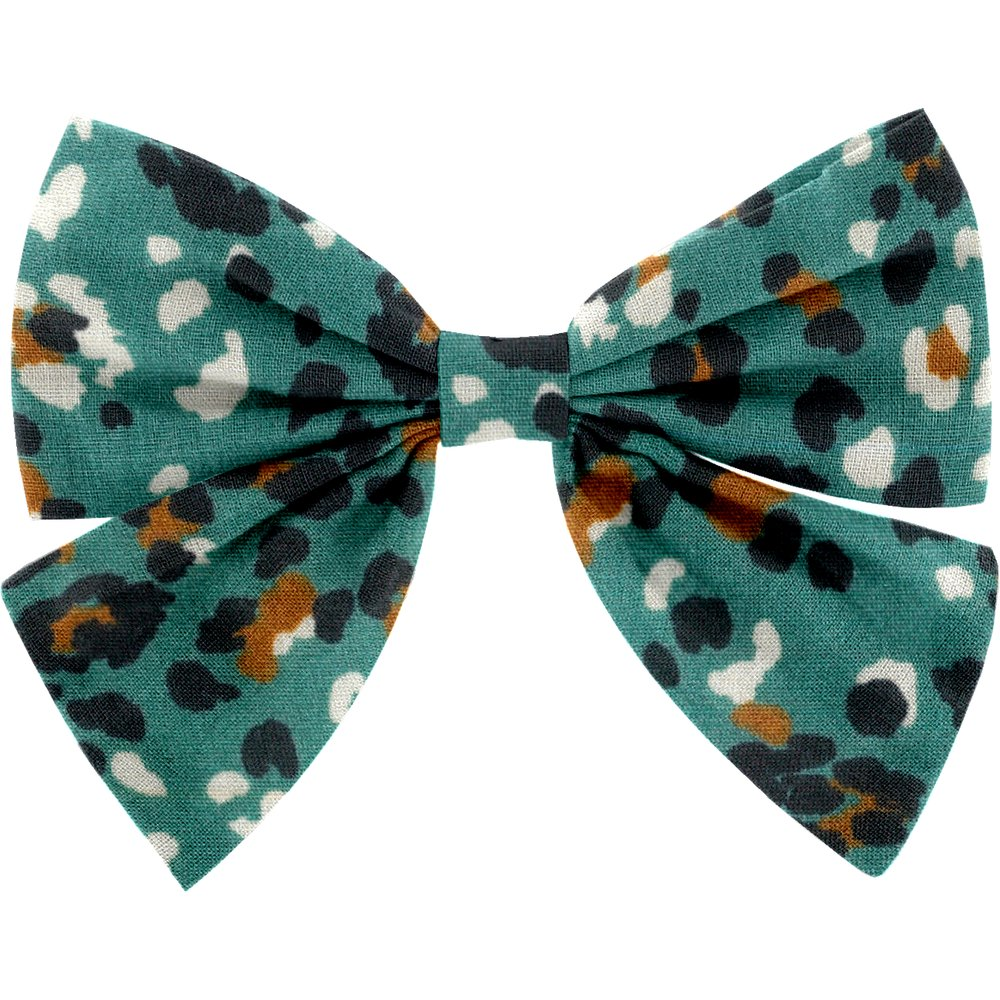 Bow tie hair slide jade panther