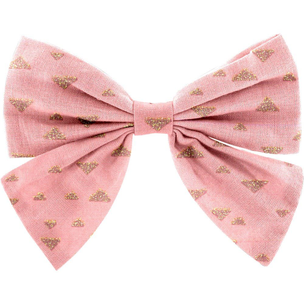 Bow tie hair slide triangle or poudré