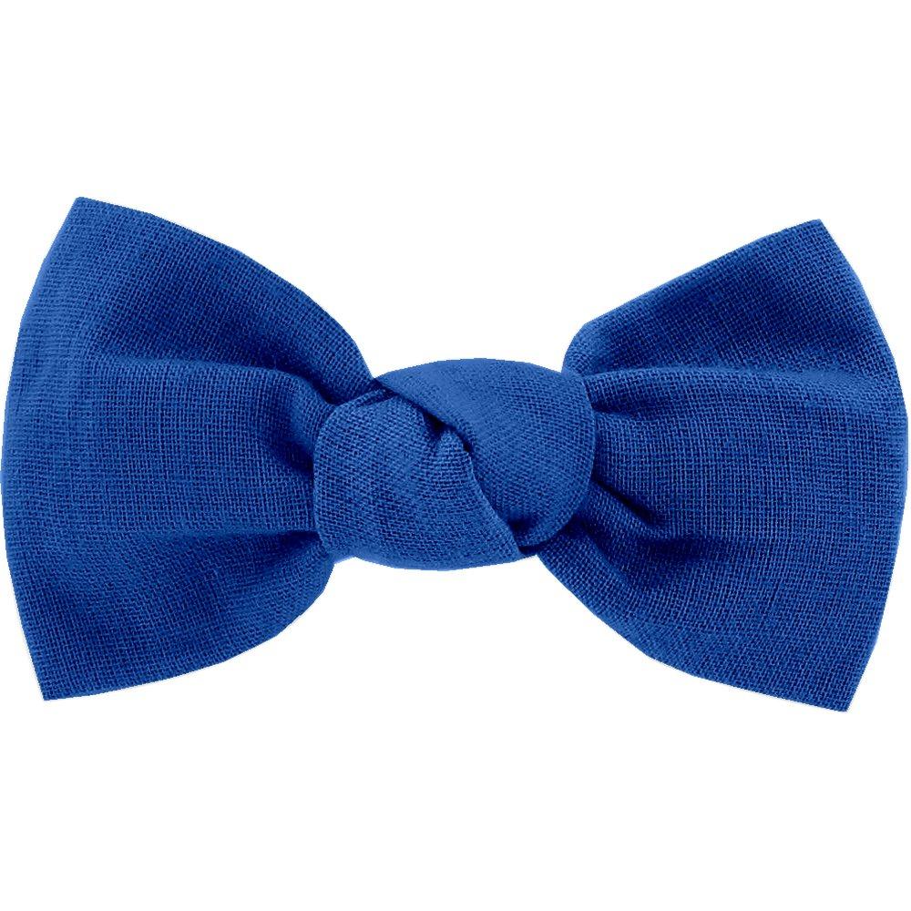 Barrette petit noeud bleu navy