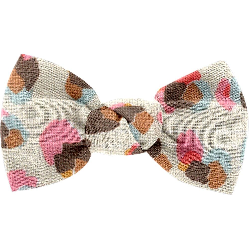 Small bow hair slide confetti aqua