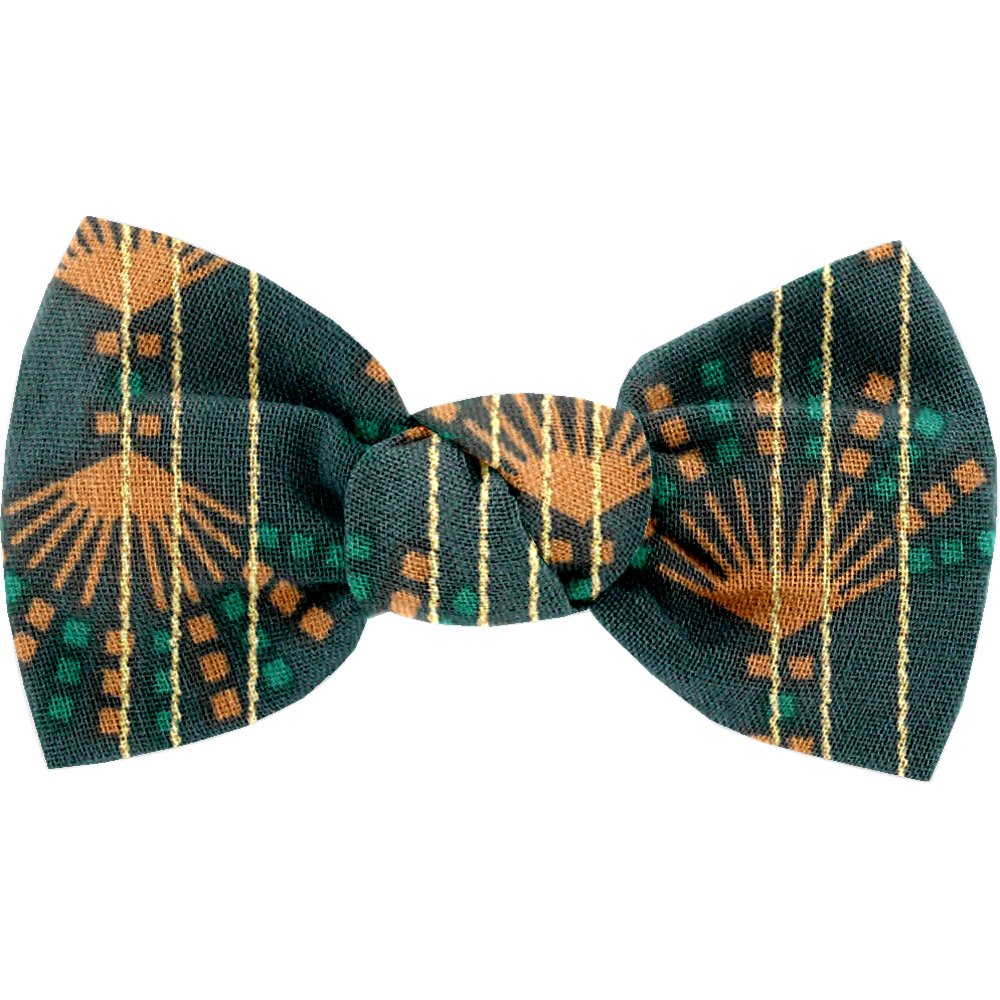 Small bow hair slide eventail or vert