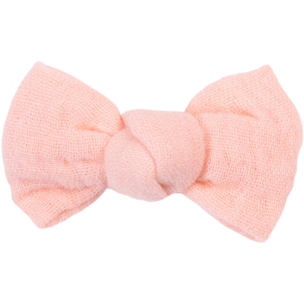 Small bow hair slide gauze pink