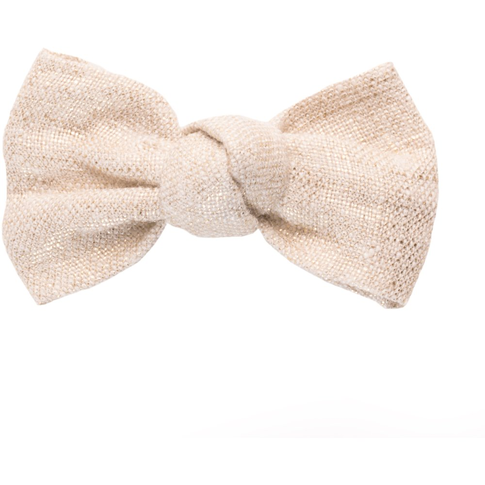 Small bow hair slide  glitter linen