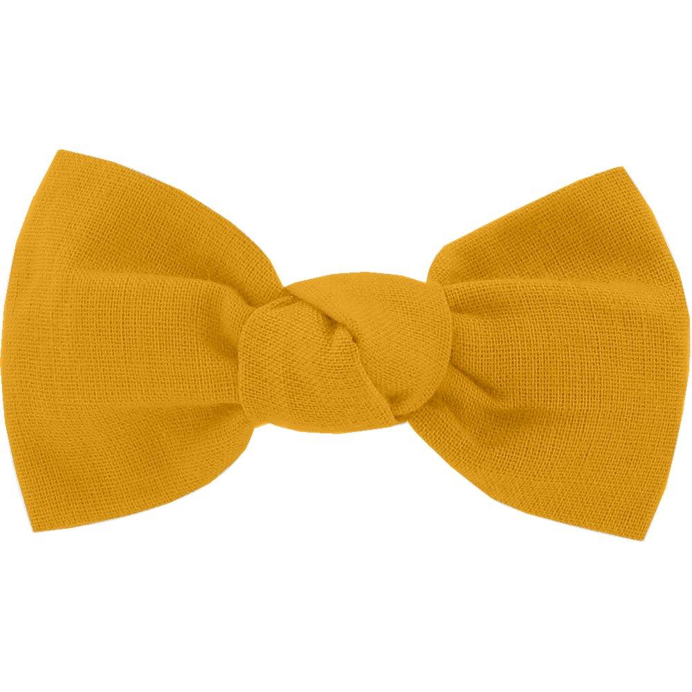 Small bow hair slide ochre