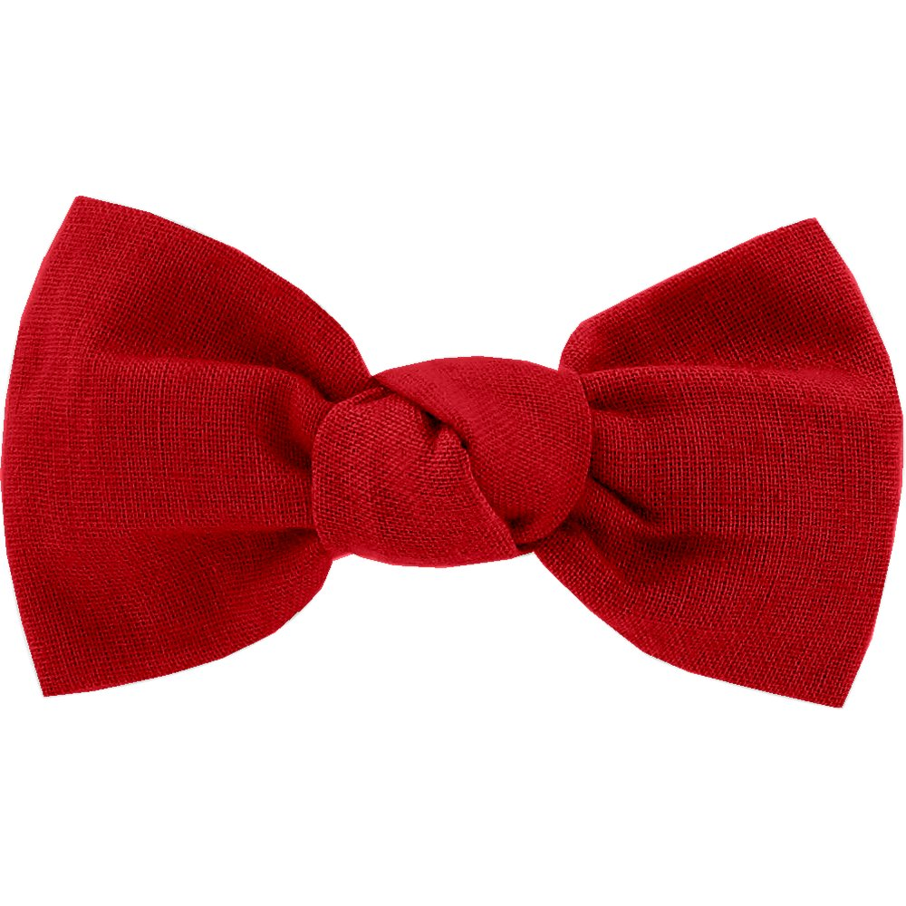 Small bow hair slide red