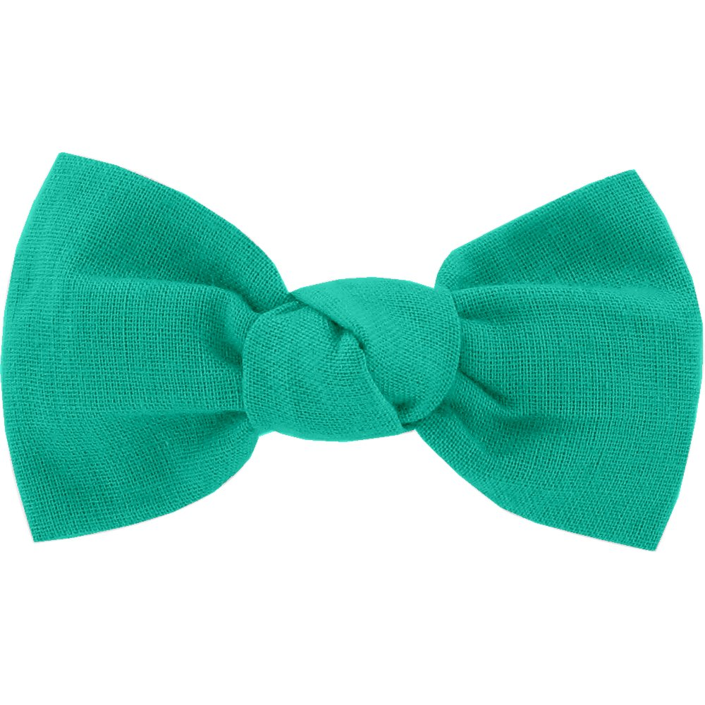 Small bow hair slide green laurel