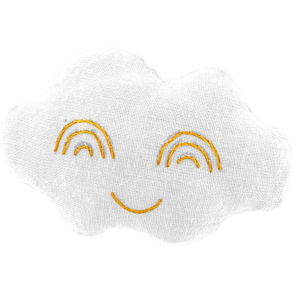 Cloud hair-clips white