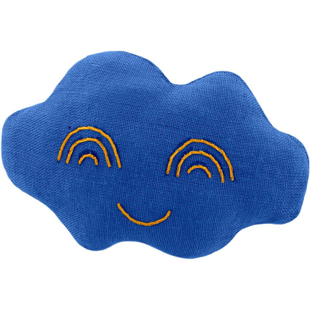 Cloud hair-clips navy blue