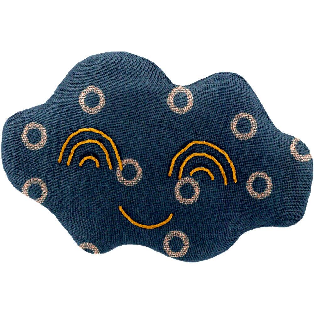 Cloud hair-clips bulle bronze marine