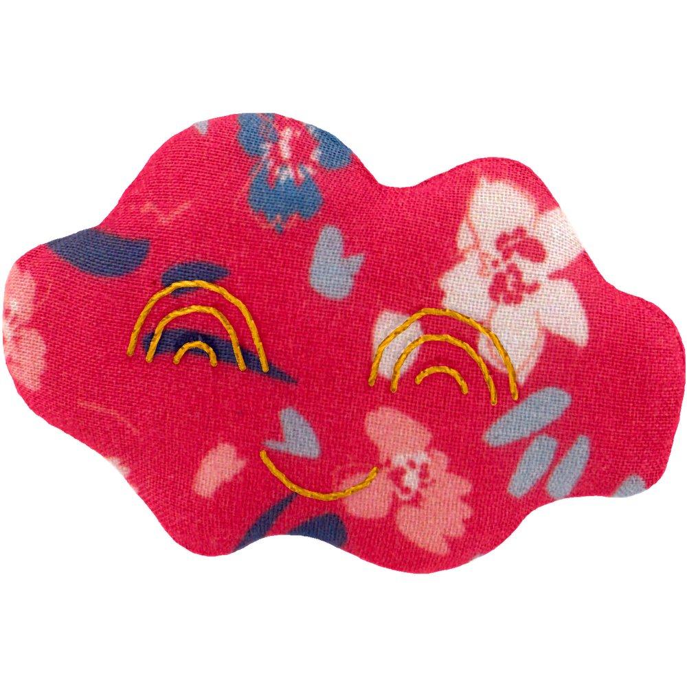 Cloud hair-clips hanami