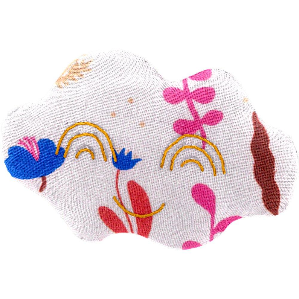 Cloud hair-clips herbier rose