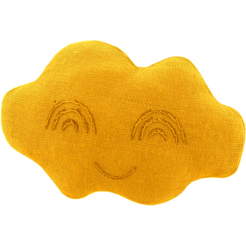 Cloud hair-clips yellow ochre