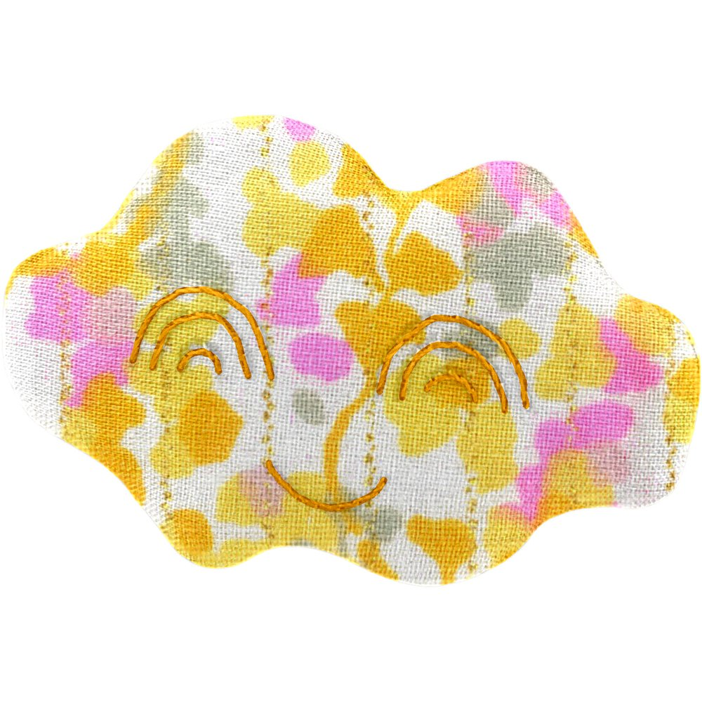 Cloud hair-clips mimosa jaune rose