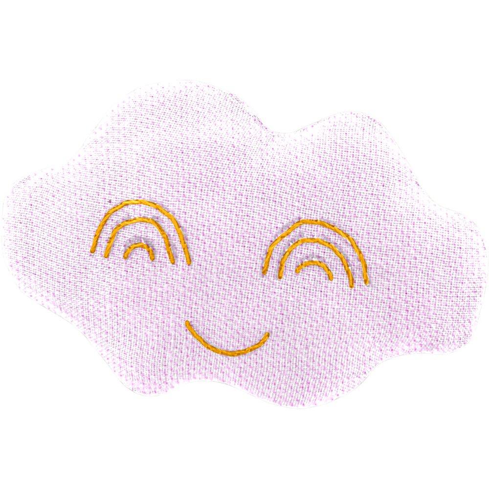 Pasador nube rosa oxford