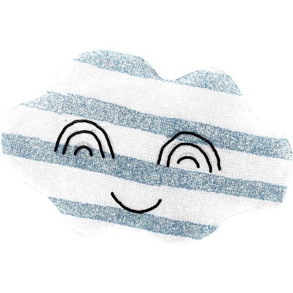 Pasador nube brillo azul gris a rayas