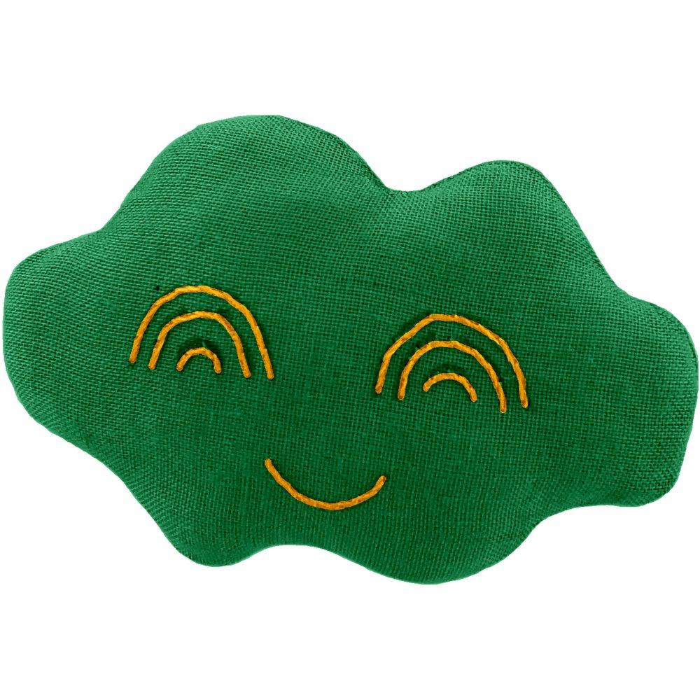 Cloud hair-clips bright green