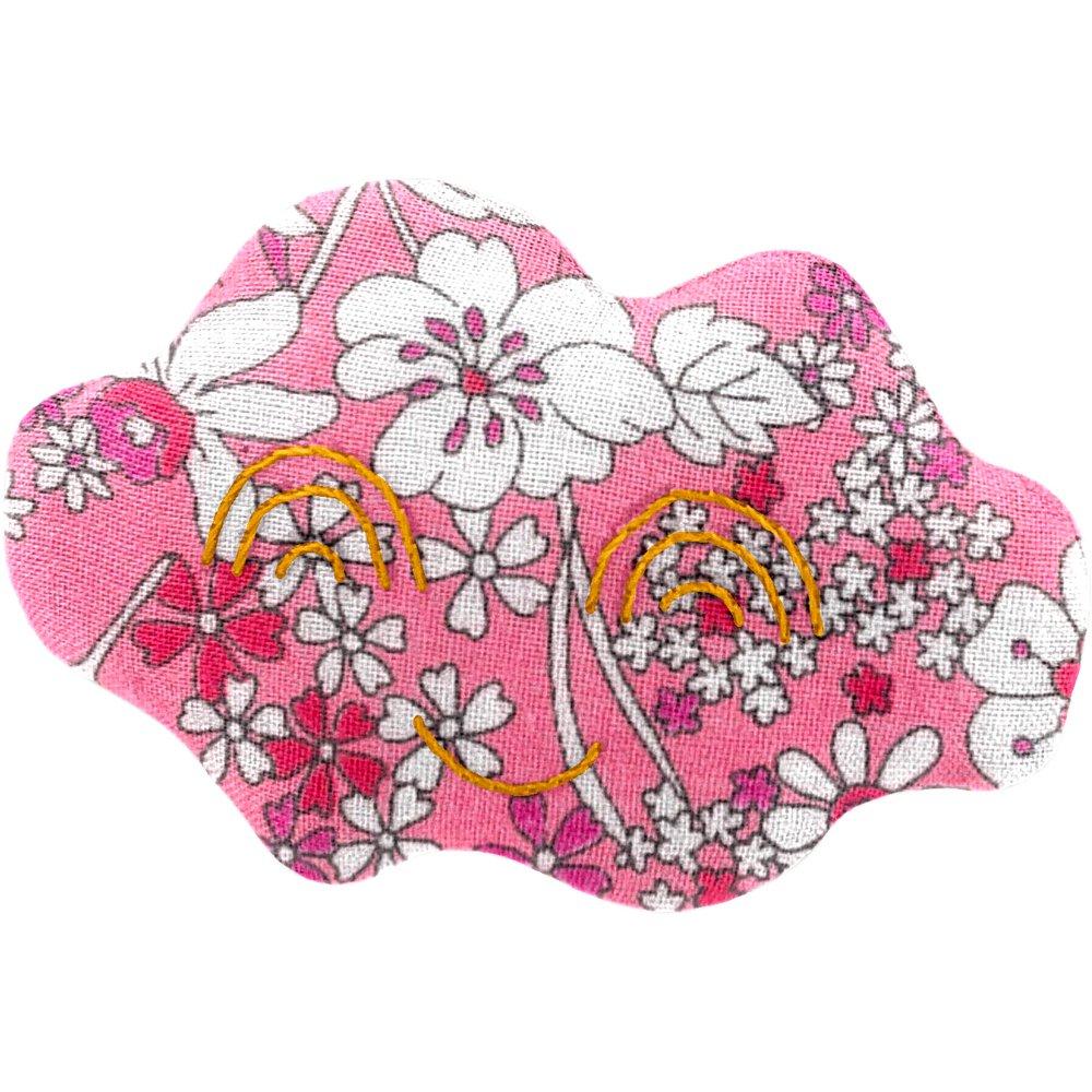 Cloud hair-clips pink violette