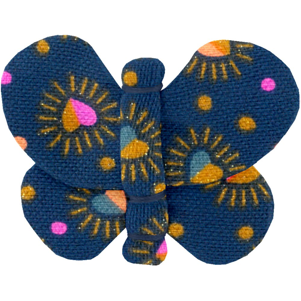 Butterfly hair clip glittering heart