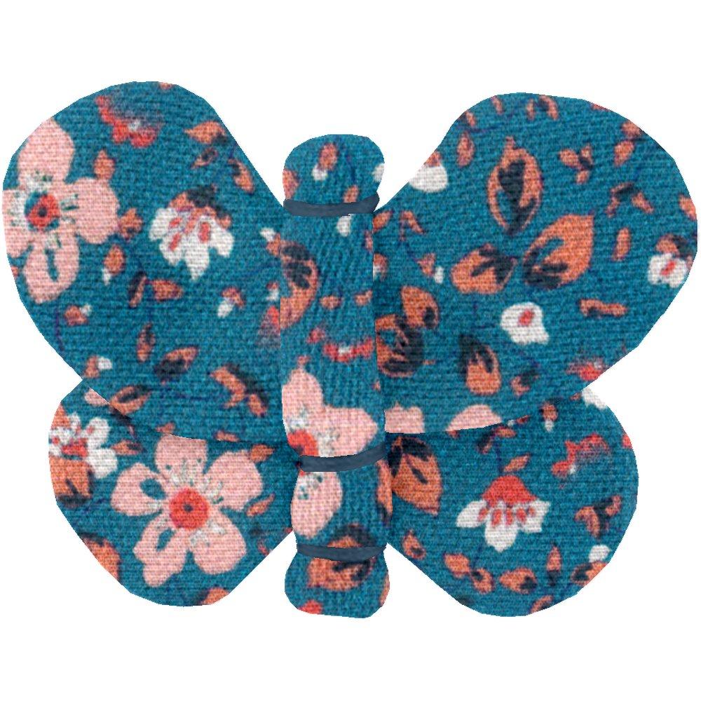 Butterfly hair clip fleuri nude ardoise
