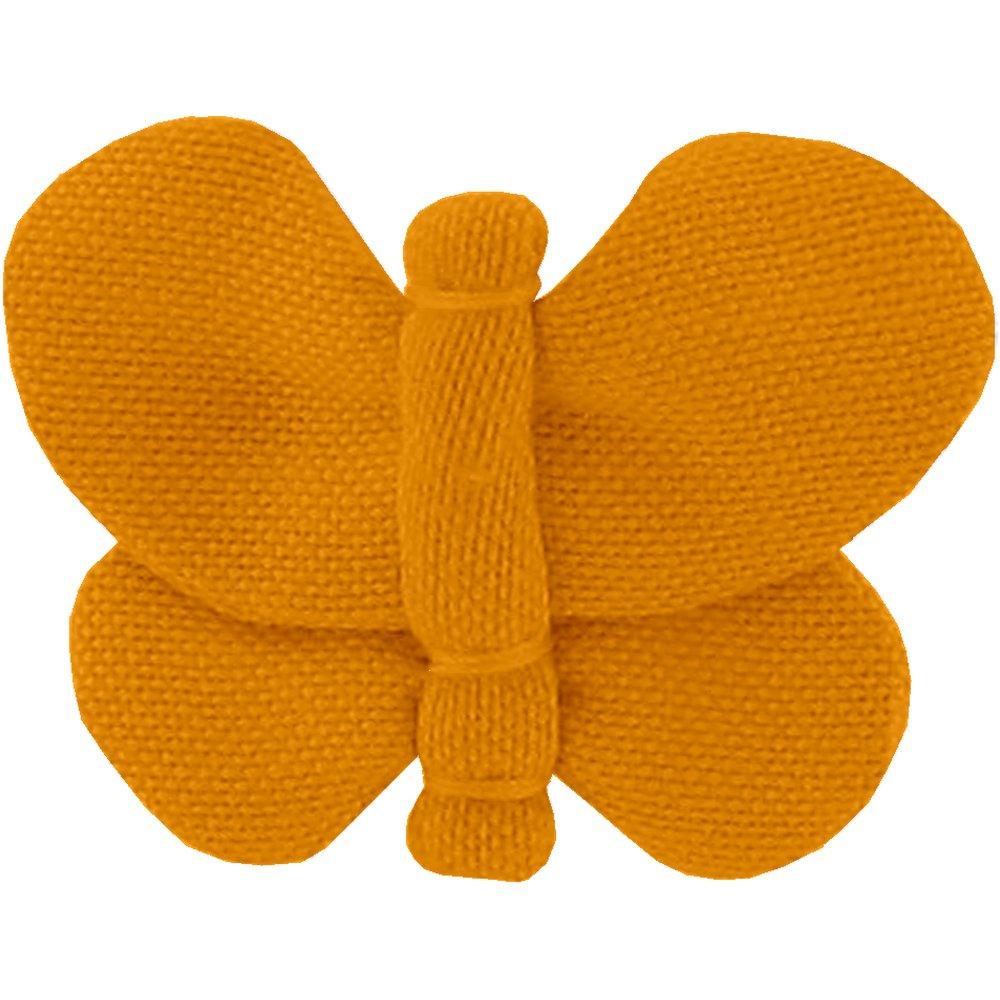 Barrette petit papillon ochre